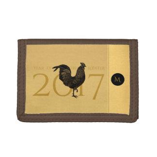 Monograma chino 2017 del Año Nuevo del gallo del
