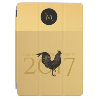 Monograma chino 2017 del Año Nuevo del gallo del Cover De iPad Air