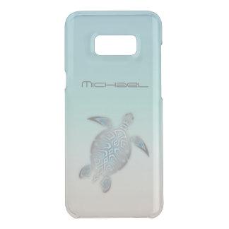 Monograma claro de plata animal de la tortuga de