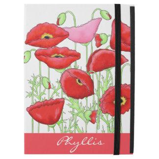 """Monograma conocido de encargo del arte rosado rojo funda para iPad pro 12.9"""""""