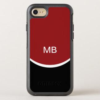 Monograma conocido moderno de las iniciales funda OtterBox symmetry para iPhone 7