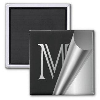 """Monograma de acero """"M """" de la cáscara Imán"""