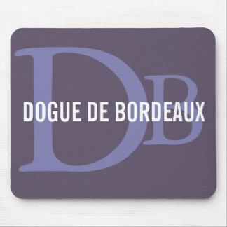 Monograma de Dogue de Bordeaux Breed Alfombrilla De Ratón