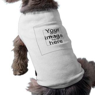 Monograma de encargo de plantilla en blanco camiseta sin mangas para perro