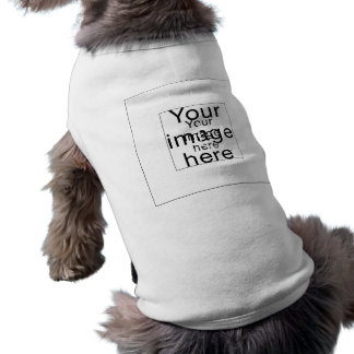 Monograma de encargo de plantilla en blanco ropa de mascota