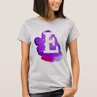 Monograma de encargo en acuarela púrpura camiseta