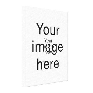 Monograma de encargo en lienzo en blanco lona estirada galerías