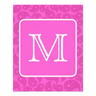 Monograma de encargo. Modelo rosado brillante de P Folleto 11,4 X 14,2 Cm