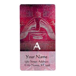 MONOGRAMA de ISIS, antigüedad rosada Etiquetas De Envío
