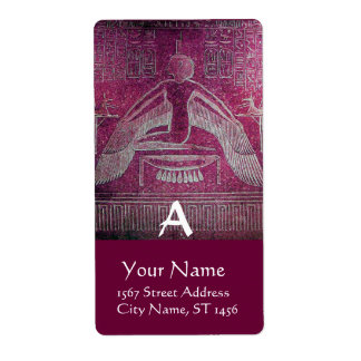 MONOGRAMA de ISIS, púrpura rosada antigua Etiqueta De Envío