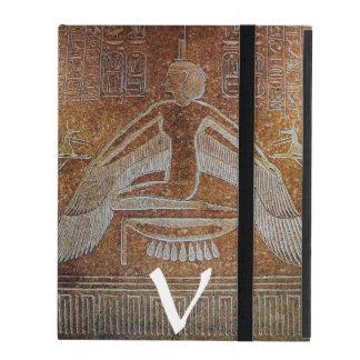 MONOGRAMA de ISIS, sepia antigua de Brown iPad Protectores