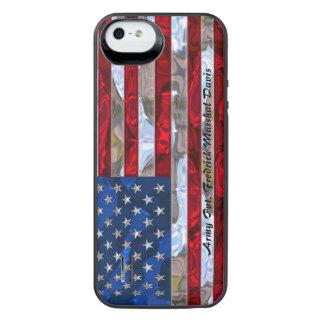 Monograma de la bandera americana 5/5s funda power gallery™ para iPhone 5 de uncommon