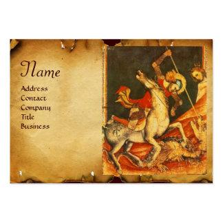 Monograma de la batalla de San Jorge y del pergami Tarjetas De Visita
