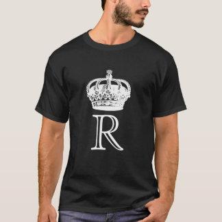 Monograma de la corona camiseta