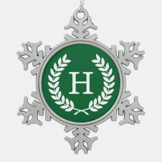Monograma de la inicial de la guirnalda del laurel adornos