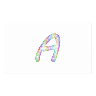 Monograma de la letra A del arco iris Tarjetas De Visita