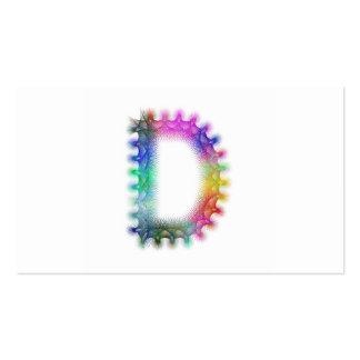 Monograma de la letra D del fractal Tarjetas De Visita