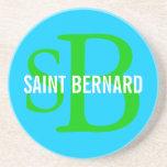 Monograma de la raza de St Bernard Posavaso Para Bebida