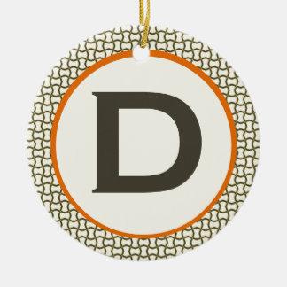 Monograma de la silla del diamante ornamento para arbol de navidad