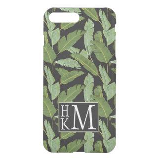 Monograma de las hojas de palma el | funda para iPhone 7 plus