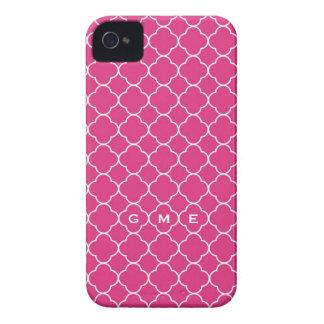 Monograma de las rosas fuertes 3 del modelo del iPhone 4 Case-Mate fundas