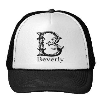 Monograma de lujo: Beverly Gorro