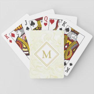 Monograma de lujo del diamante de la mirada del baraja de cartas
