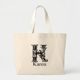 Monograma de lujo: Karen Bolsa De Mano