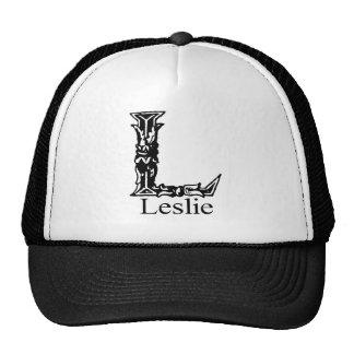 Monograma de lujo: Leslie Gorros