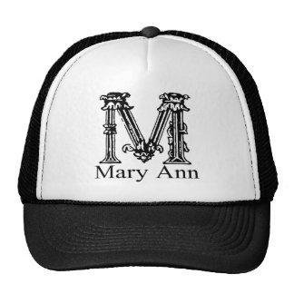 Monograma de lujo: Mary Ann Gorras De Camionero