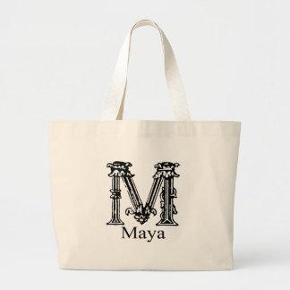 Monograma de lujo: Maya Bolsa Tela Grande