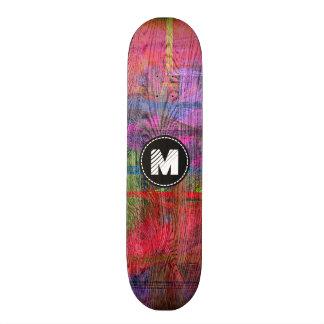 Monograma de madera colorido de la textura del monopatín 21,1 cm