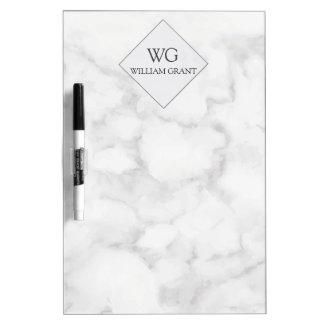 Monograma de mármol blanco del mejor amigo pizarra blanca