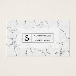 Monograma de mármol blanco y negro del modelo tarjeta de visita