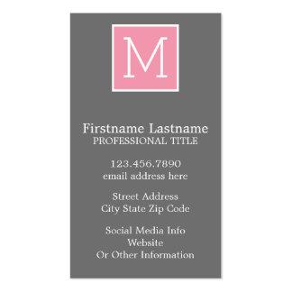 Monograma de moda del personalizado del collage de tarjetas de visita