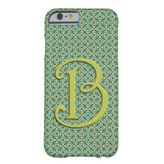 Monograma de mosaico de Marruecos con Letra B Funda Barely There iPhone 6