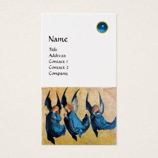 MONOGRAMA de TRES ÁNGELES, zafiro azul, oro Tarjeta De Negocios