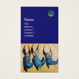 MONOGRAMA de TRES ÁNGELES, zafiro azul Tarjeta De Negocios