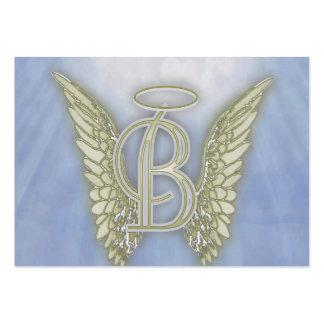 Monograma del ángel de la letra B Tarjetas De Visita Grandes