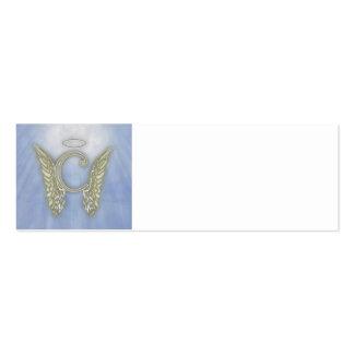 Monograma del ángel de la letra C Tarjetas De Visita Mini