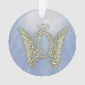 Monograma del ángel de la letra D Adorno