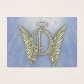 Monograma del ángel de la letra D Tarjeta De Visita