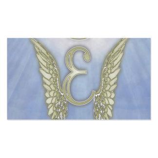 Monograma del ángel de la letra E Tarjetas De Visita