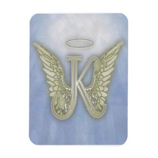 Monograma del ángel de la letra K Imán Flexible