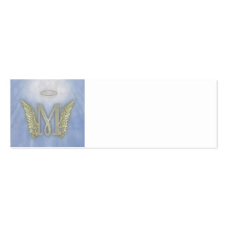 Monograma del ángel de la letra M Tarjetas De Visita Mini