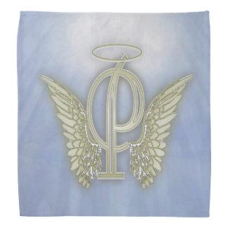 Monograma del ángel de la letra P Bandanas