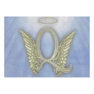 Monograma del ángel de la letra Q Tarjetas De Visita Grandes