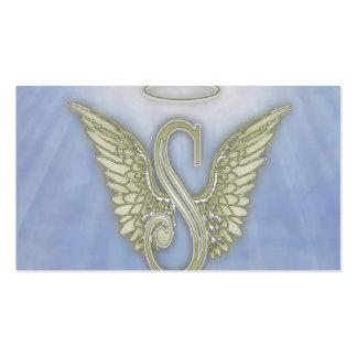 Monograma del ángel de la letra S Tarjetas De Visita