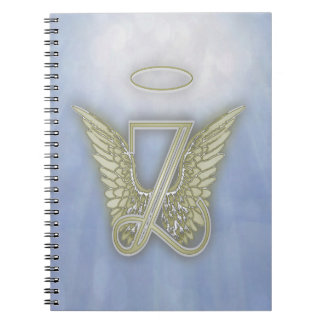 Monograma del ángel de la letra Z Cuaderno