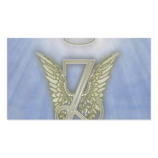 Monograma del ángel de la letra Z Tarjetas De Visita